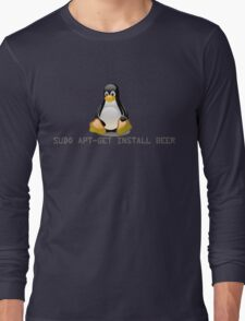 Linux - Get Install Beer Long Sleeve T-Shirt