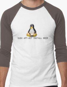 Linux - Get Install Beer Men's Baseball ¾ T-Shirt