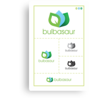 Bulbasaur Logo Study Canvas Print