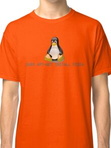 Linux - Get Install Pizza Classic T-Shirt