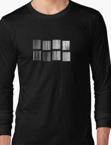Fragments - B&W Halftone Long Sleeve T-Shirt