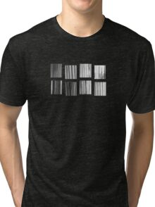 Fragments - B&W Halftone Tri-blend T-Shirt