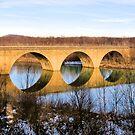 Reflections of a Bridge  by Lyndsay81