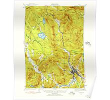 Maine USGS Historical Map Rumford 460821 1927 62500 Poster