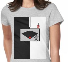 The Black Fan with Love Womens Fitted T-Shirt