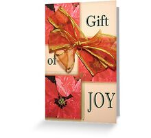 Christmas Gift Card ~ Joy Greeting Card