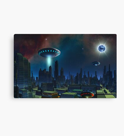 Space Pirates - Vid Heroes. Canvas Print