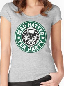 Mad Hatter Tea Party Women's Fitted Scoop T-Shirt