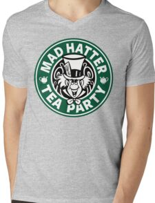 Mad Hatter Tea Party Mens V-Neck T-Shirt