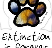 Big cat paws Sticker