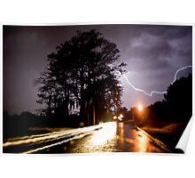 Lightning Over Adair Poster