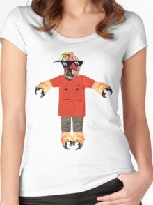 deal with it dragon fruit Women's Fitted Scoop T-Shirt