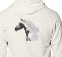 Silver Moon, Gypsy Vanner Stallion Zipped Hoodie