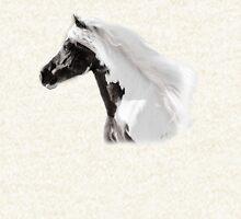 Silver Moon, Gypsy Vanner Stallion Zipped Hoodie