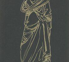 greek statue of a headless man by purplestgirl