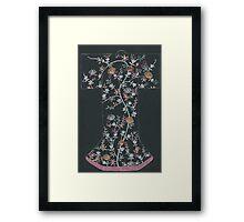 black floral kimono Framed Print