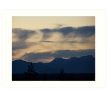 Abstract Across The Olympic Moutains Art Print