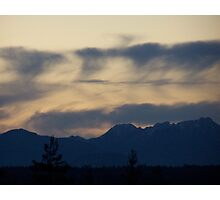 Abstract Across The Olympic Moutains Photographic Print