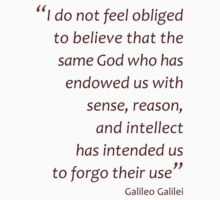 Galileo Galilei on God (Amazing Sayings) Kids Clothes