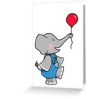 The Elephant and his Balloon Greeting Card