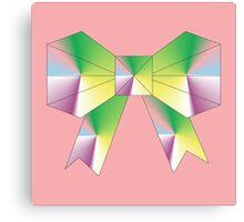 Bow-Rain-Bow Origami Canvas Print