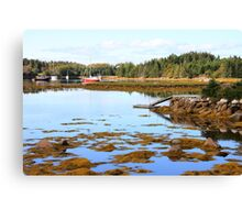 Nova Scotia Boats Canvas Print