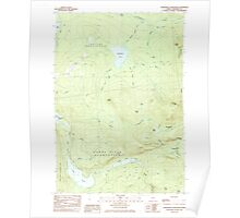 Maine USGS Historical Map Saddleback Mountain 460824 1985 24000 Poster