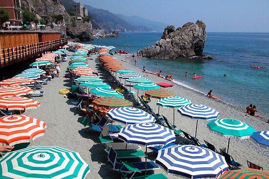 Monterosso beach, Cinque Terre by Monica Di Carlo