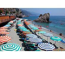 Monterosso beach, Cinque Terre Photographic Print