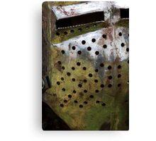 Rusty helmet Canvas Print