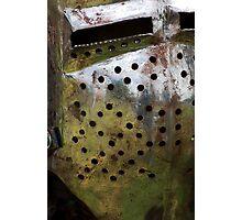 Rusty helmet Photographic Print