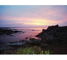 Sunset over West Point Tasmania Photographic Print