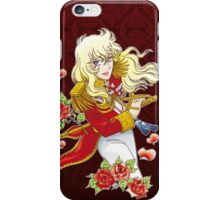 Oscar François de Jarjayes (Red edit.) iPhone Case/Skin