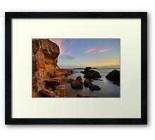Wangi Rocks at Dusk Framed Print