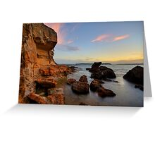 Wangi Rocks at Dusk Greeting Card