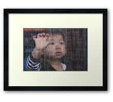 Behind the Screen Framed Print