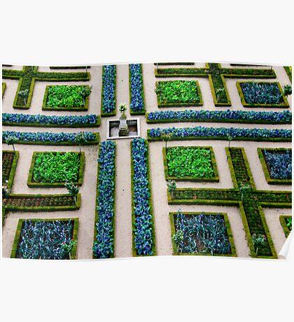 Formal Garden - Chateau Villandry, Loire Valley Poster
