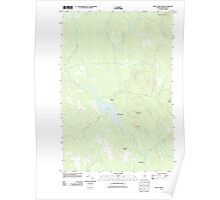 Maine USGS Historical Map Saint Croix Lake 20110909 TM Poster