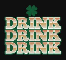 DRINK DRINK DRINK with green shamrock for St Patrick's day! Baby Tee