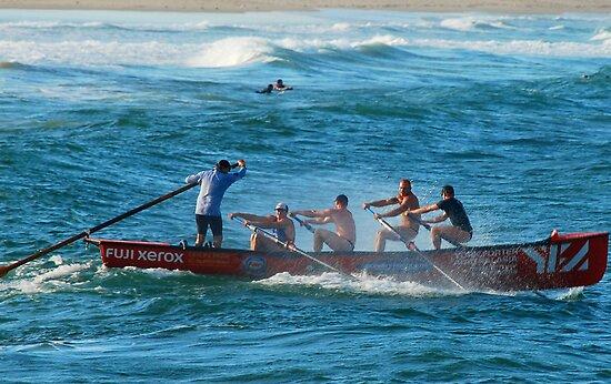 Dixon Park Surf Boat Crew by Bev Woodman