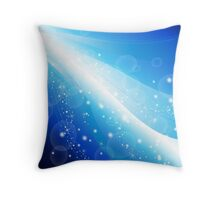 Blue beautiful abstract Background Throw Pillow