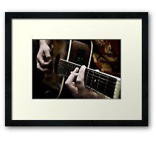 Guitarist Framed Print
