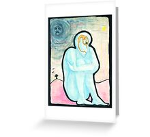Blue part one Greeting Card
