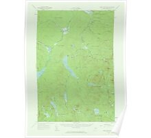 Maine USGS Historical Map Saint John Pond 306748 1958 62500 Poster