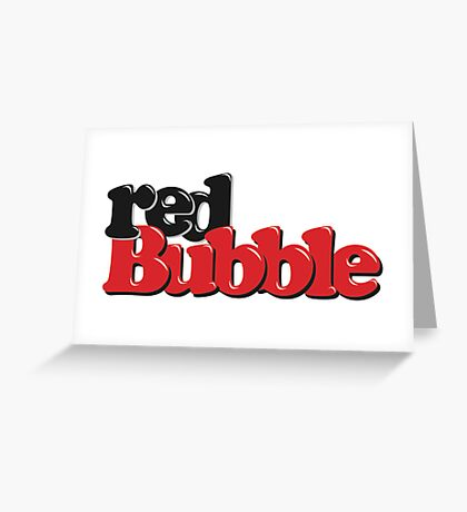 RedBubble Logo Greeting Card