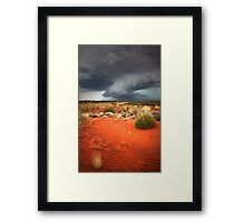 Chasing the storm... Framed Print