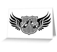 drinking team logo Greeting Card