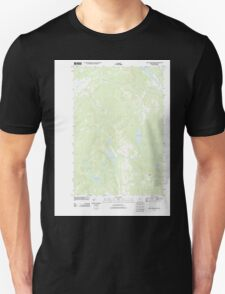 Maine USGS Historical Map Saint John Ponds 20110906 TM Unisex T-Shirt