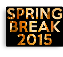 spring break 2015 Canvas Print