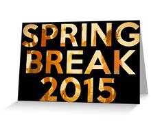 spring break 2015 Greeting Card